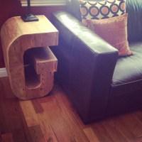 Letter G Side Table