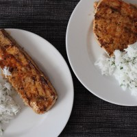 Grilled Swordfish with Paprika Butter and Cilantro Lime Rice