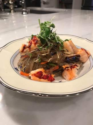 Jap Chae noodles with lobster