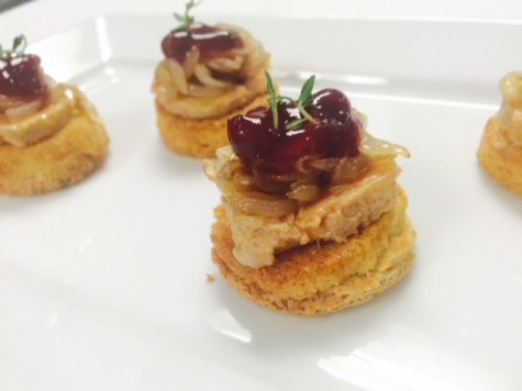 Foie Gras with Lingonberry jam and fresh Thyme