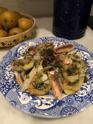 Grilled Fennel and Sardine Salad