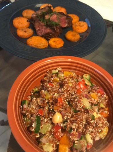 Red Quinoa and Steak