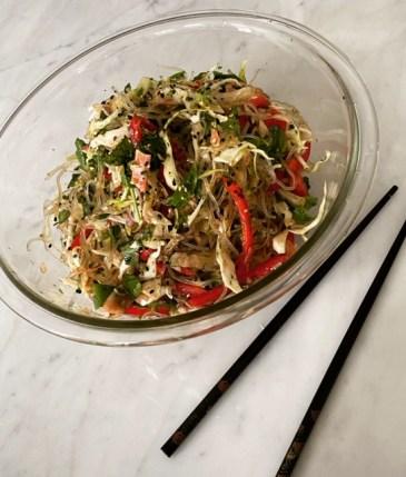 Crunchy Kelp noodle salad