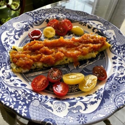 Spanish style omlette