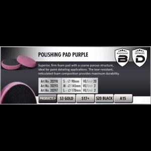 Scholl Concepts Polishing Pad (Medium) 145x30 purple bg