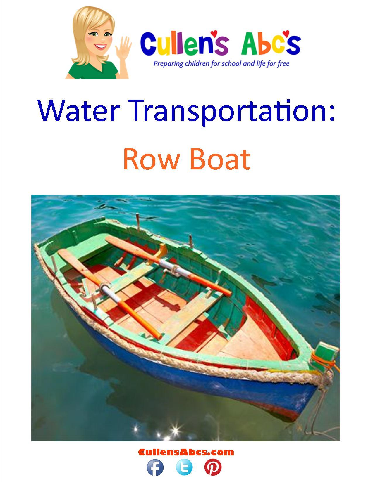 Water Transportation Preschool