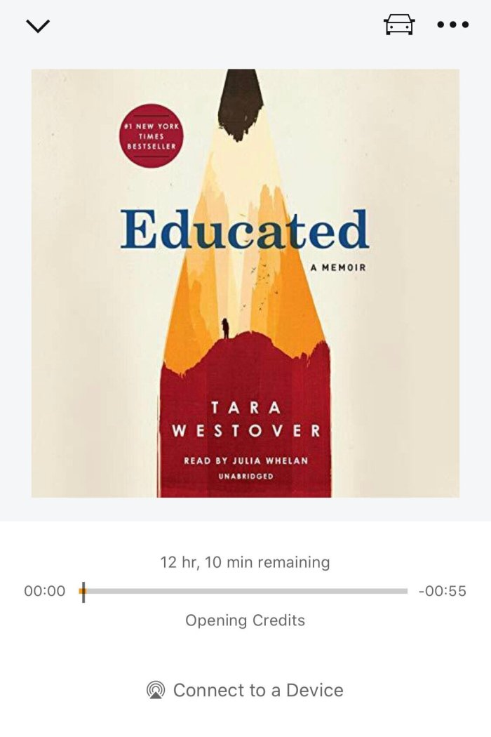 Educated by Tara Westover Book Review