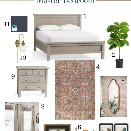 Farmhouse Master Bedroom Remodel on a Budget