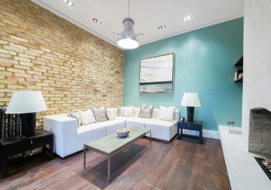 A contemporary media room home staged by Cullum Design | London UK