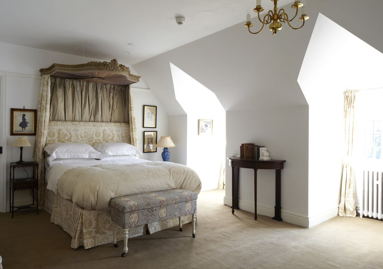 A classic country house bedroom home staged by Cullum Design   London UK