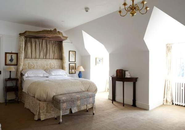 A classic country house bedroom home staged by Cullum Design | London UK