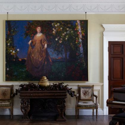 A classic country house drawing room home staged by Cullum Design   London UK