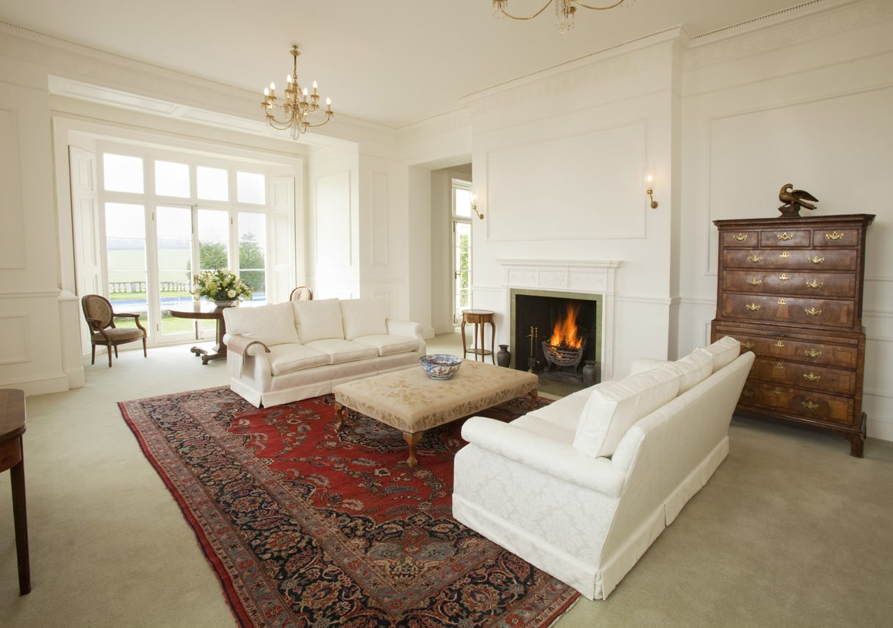A classic country house reception room home staged by Cullum Design   London UK