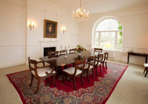 A classic country house dining room home staged by Cullum Design | London UK