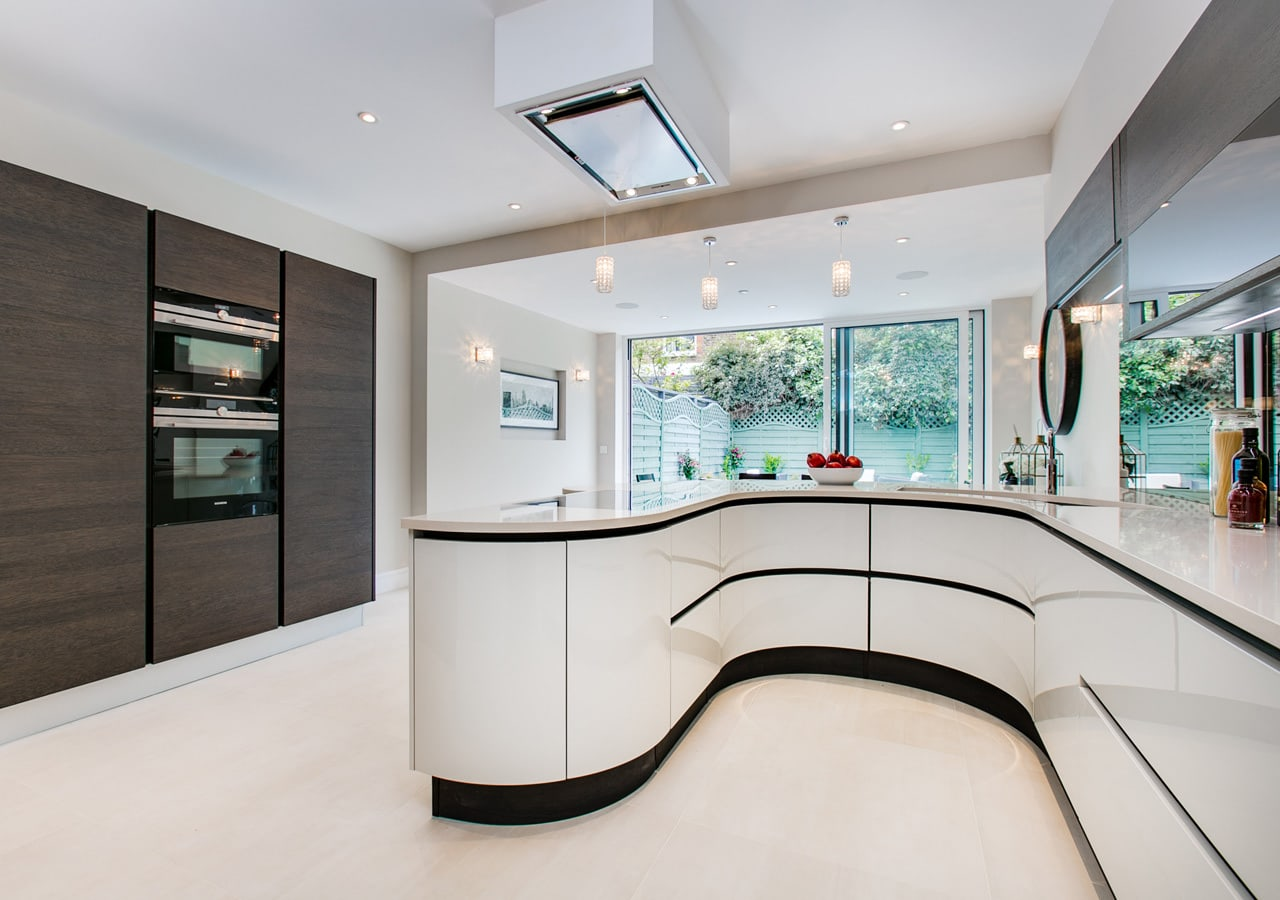 property styling, A classic contemporary Fulham Townhouse kitchen designed by Nicola Scannell Design and Home Staged by Cullum Design   London UK