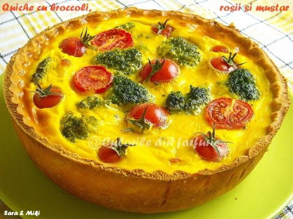 Quiche cu broccoli, rosii si mustar 2
