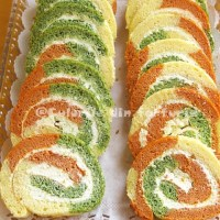 Rulada aperitiv tricolora