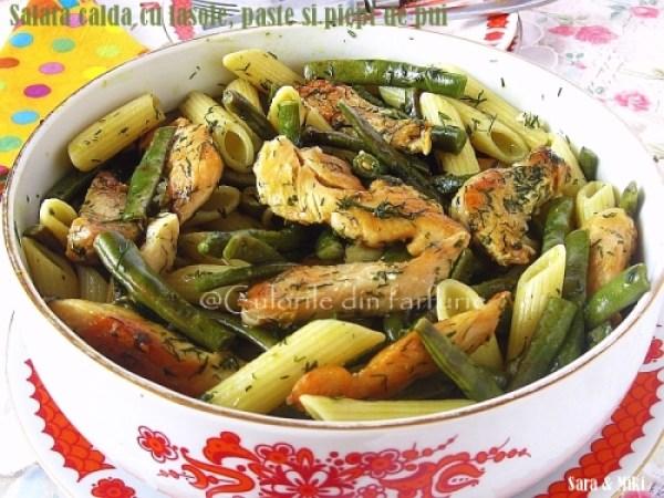 Salata-calda-cu-fasole, paste-si-piept-de-pui3-1