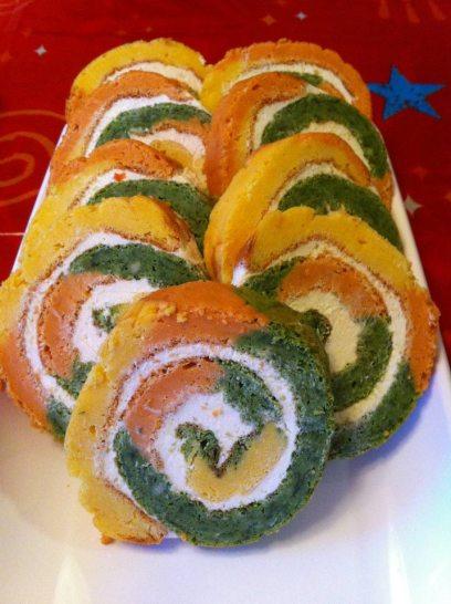Rulada aperitiv tricolora - Georgiana Popa