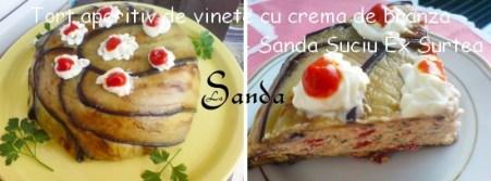 Tort aperitiv de vinete cu crema de branza - Sanda Suciu Ex Surtea