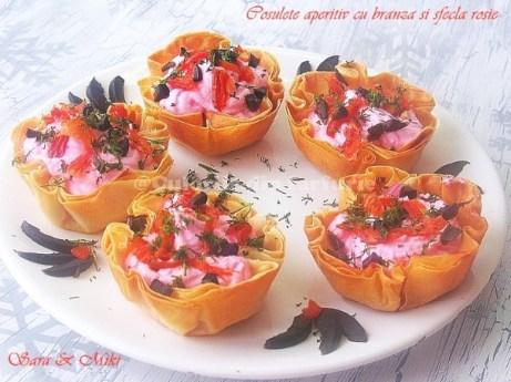 Cosulete aperitiv cu branza si sfecla rosie 3
