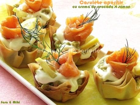 Cosulete aperitiv cu crema de avocado si somon 5-1