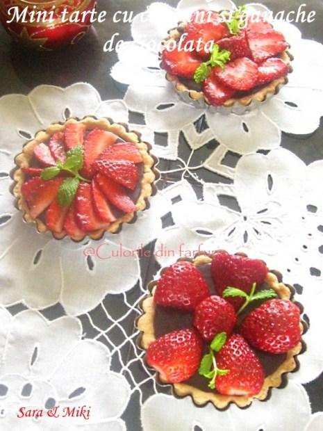 Mini-tarte-cu-capsuni-si-ganache-de-ciocolata-1