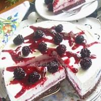 Cheesecake cu mure - fara coacere
