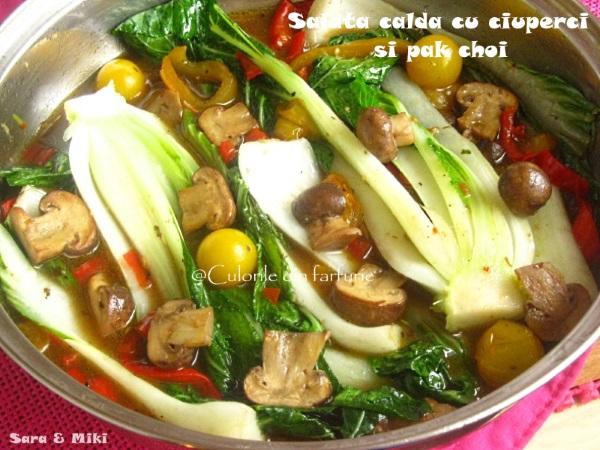 salata-calda-cu-ciuperci-si-pak-choi-4-1