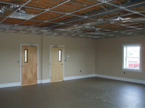 Basement drop ceiling installation