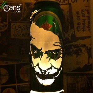 The Dark Knight 'Joker' Beer Can Lantern
