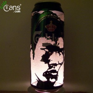 Bruce Lee Beer Can Lantern