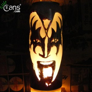 Gene Simmons Beer Can Lantern