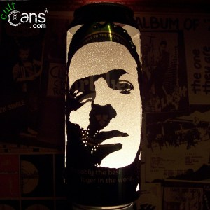 Joe Strummer Beer Can Lantern