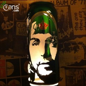 Paul McCartney Beer Can Lantern