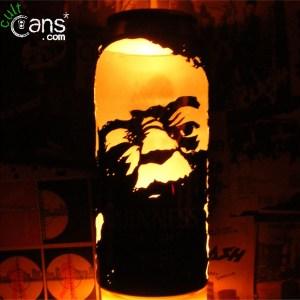 Yoda Beer Can Lantern