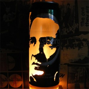 Johnny Cash Beer Can Lantern