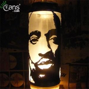 Tupac Shakur Beer Can Lantern