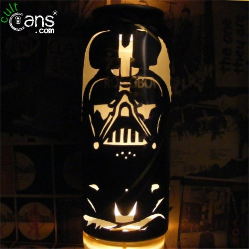 cult cans beer cans transformed into stunning portrait lanterns. Black Bedroom Furniture Sets. Home Design Ideas