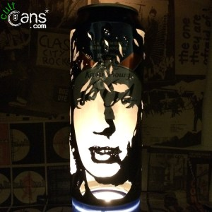 Mick Jagger Beer Can Lantern