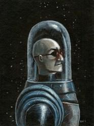"Freeze by Blake Wheeler Acrylic on paper 8"" x 6"" $100"