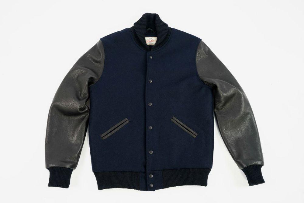 dehen 1920 varsity jacket navy black