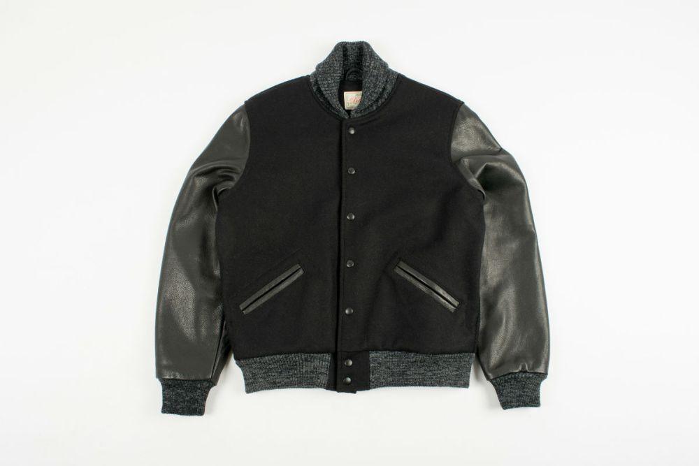 dehen black varsity jacket