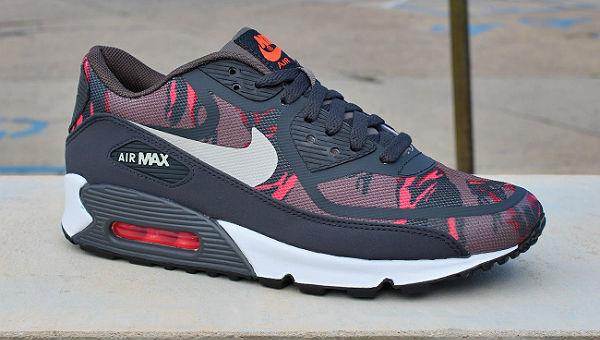 Nike Air Max 90 Premium Tape Red Camo | Cult Edge