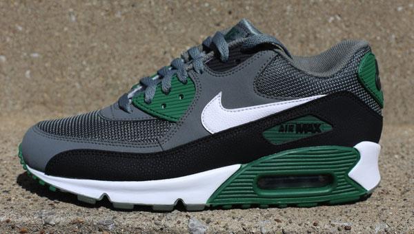 outlet store sale fa877 d45b3 Nike Air Max 90 Essential Mercury / Grey / Green | Cult Edge