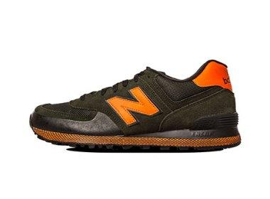 New Balance 574 Orange / Dark Green