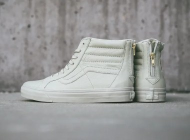 Vans Sk8-Hi Zip CA Boot Leather Agate Gray | Cult Edge