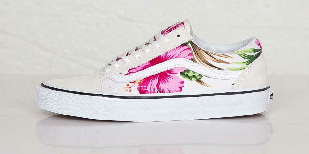 a80b3a7858 Vans Old Skool Hawaiian Floral White