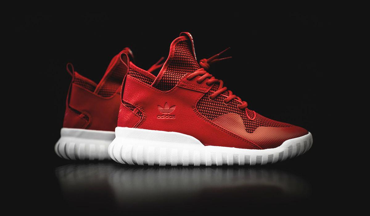 adidas Tubular X Collegiate Red