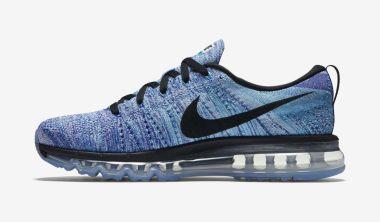 Nike Flyknit Air Max White/Chlorine Blue